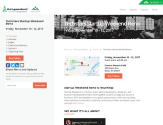 reno.startupweekend.org screenshot