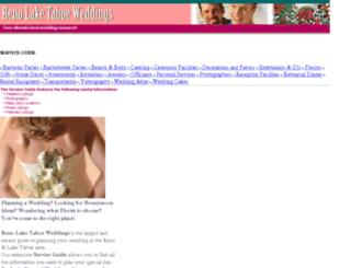 renolaketahoeweddings.com screenshot
