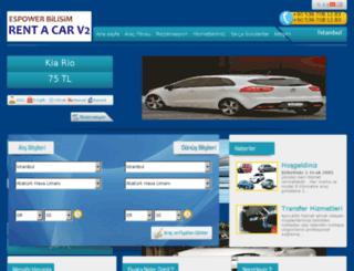 rentacarv2.espowerbilisim.com screenshot