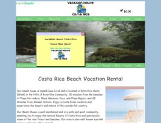 rentalhousecostarica.com screenshot