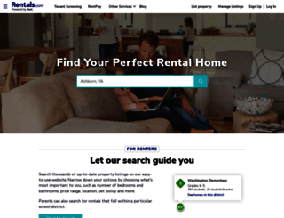 rentals.com screenshot