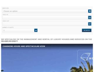 rentals.housesinibiza.com screenshot