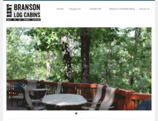 rentbransonlogcabins.com screenshot