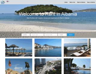 rentinalbania.com screenshot