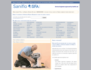 repairs.saniflo.co.uk screenshot