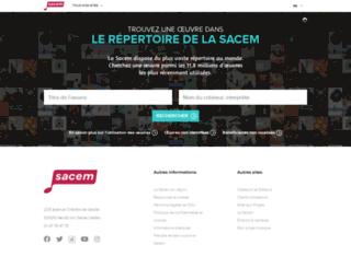 repertoire.sacem.fr screenshot