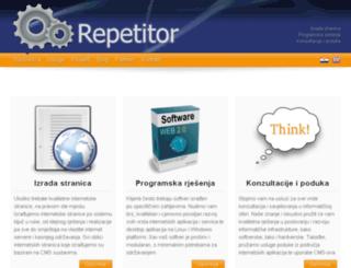 repetitor.hr screenshot