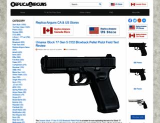 replicaairguns.com screenshot