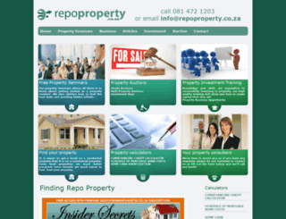 repoproperty.co.za screenshot