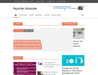 reporteradvocate.com screenshot
