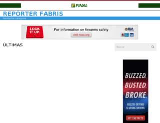 reporterfabris.final.com.br screenshot