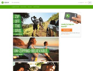 reporting.zipcar.com screenshot