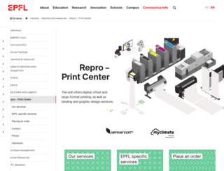 repro.epfl.ch screenshot