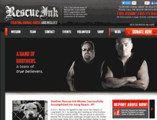 rescueink.org screenshot