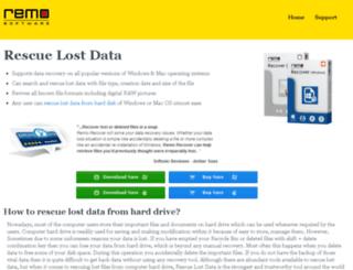 rescuelostdata.com screenshot
