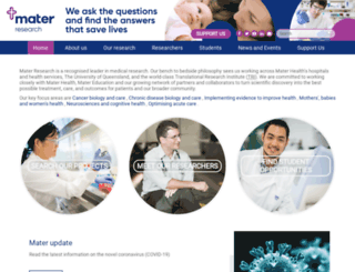 research.mater.org.au screenshot