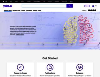 research.yahoo.com screenshot