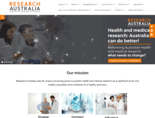researchaustralia.org screenshot