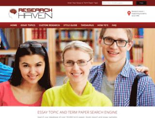 researchhaven.com screenshot
