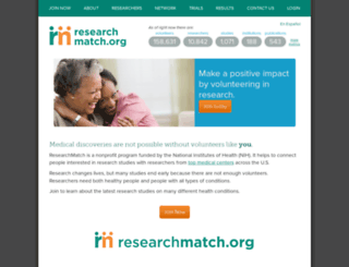 researchmatch.org screenshot