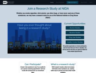 researchstudies.drugabuse.gov screenshot
