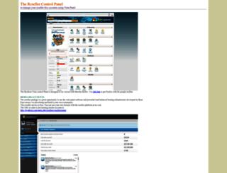 reseller.vista-panel.com screenshot