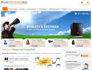 resellerwebhostingnepal.com.np screenshot