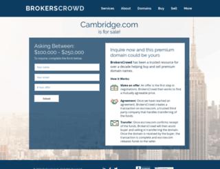reservations.cambridge.com screenshot