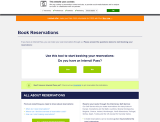 reservations.interrail.eu screenshot