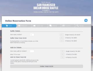 reservations.sfraffle.com screenshot