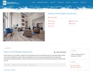 reserveatnorthglennapts.com screenshot