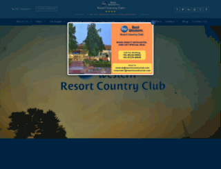 resortcountryclub.com screenshot