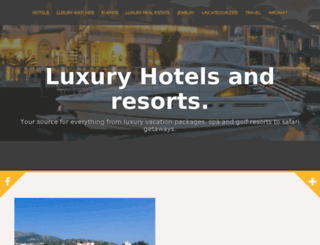resortsluxhotels.com screenshot