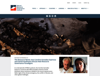 resourcegovernance.org screenshot