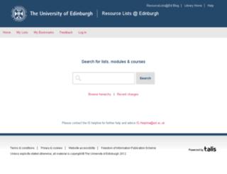 resourcelists.ed.ac.uk screenshot