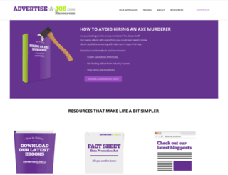 resources.advertise-a-job.com screenshot