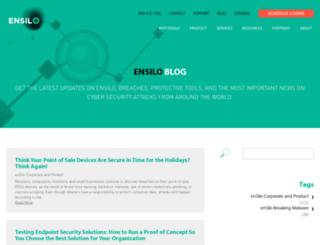 resources.ensilo.com screenshot