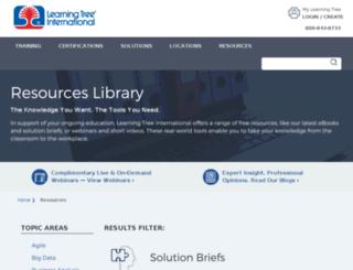 resources.learningtree.com screenshot