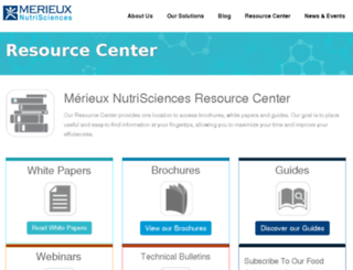 resources.merieuxnutrisciences.com screenshot