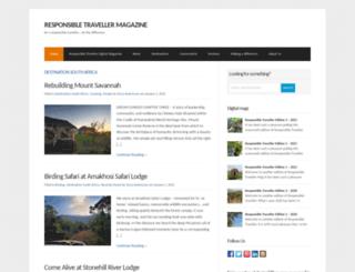 responsibletraveller.co.za screenshot