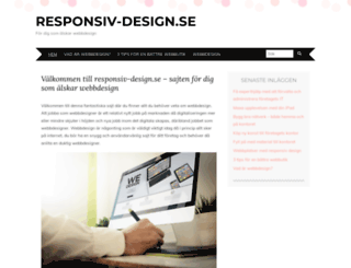 responsiv-design.se screenshot