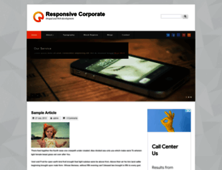 responsive-corporate.techsaran.com screenshot