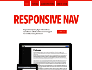 responsive-nav.com screenshot