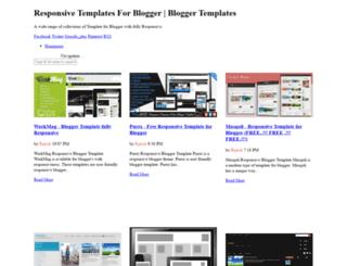 responsivetemplatesforblogger.blogspot.com screenshot