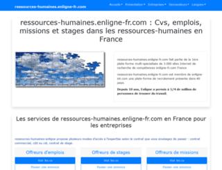 ressources-humaines.enligne-fr.com screenshot