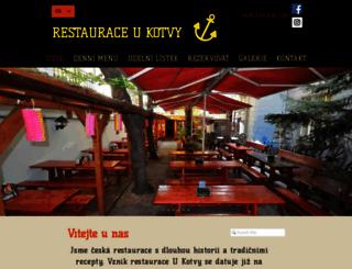 restaurace-ukotvy.cz screenshot