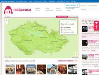 restaurace.mraveniste.cz screenshot