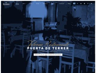 restaurantepuertadeterrer.com screenshot