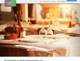 restaurantesmalaga.org screenshot