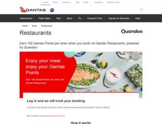 restaurants.qantaspoints.com screenshot